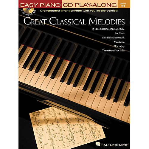 Hal Leonard Great Classical Melodies - Easy Piano CD Play-Along Volume 21 Book/CD-thumbnail