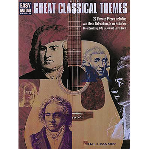Hal Leonard Great Classical Themes for Easy Guitar Tab Book-thumbnail
