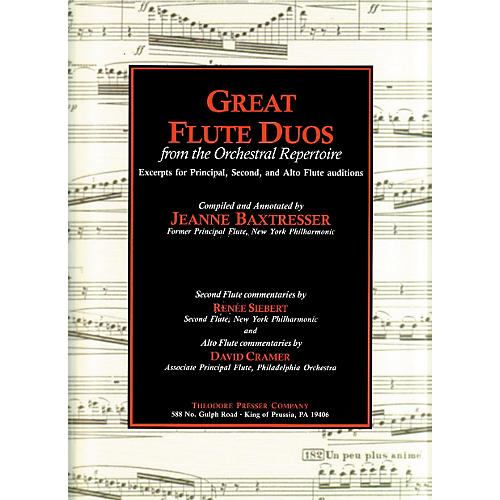 Carl Fischer Great Flute Duos From The Orchestral Repertoire Book