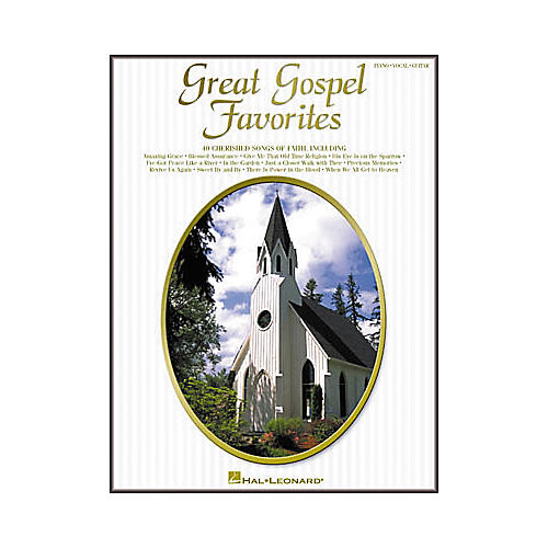 Hal Leonard Great Gospel Favorites Piano, Vocal, Guitar Songbook