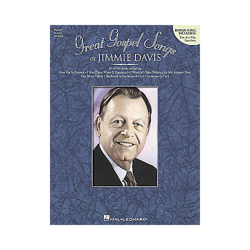 Hal Leonard Great Gospel Songs of Jimmie Davis Composer Collection Book-thumbnail