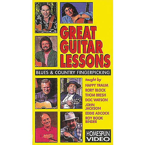 Hal Leonard Great Guitar Lessons - Blues and Country Fingerpicking Video