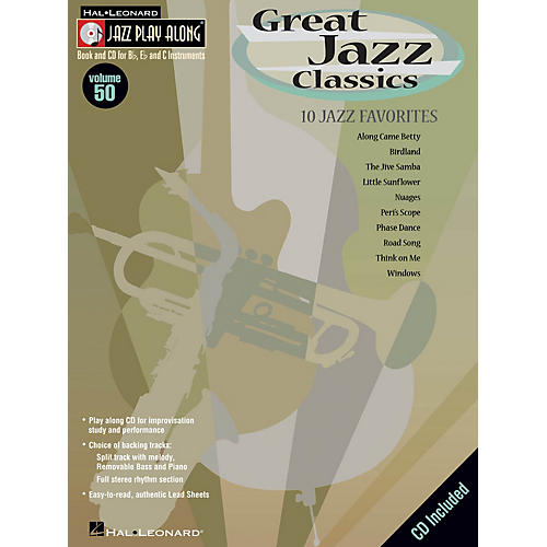 Hal Leonard Great Jazz Classics (Jazz Play-Along Volume 50) Jazz Play Along Series Softcover with CD by Various