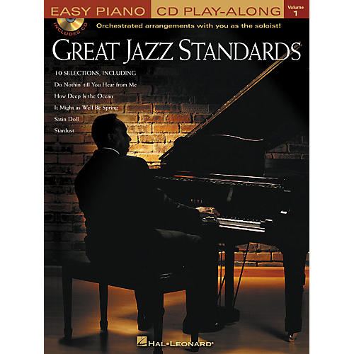 Hal Leonard Great Jazz Standards - Easy Piano CD Play-Along Volume 1 Book/CD-thumbnail