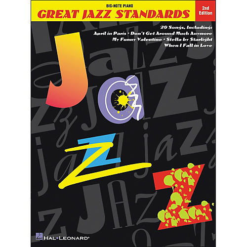 Hal Leonard Great Jazz Standards for Big Note Piano 2nd Edition-thumbnail