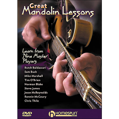 Homespun Great Mandolin Lessons: learn From Nine Master Players DVD-thumbnail