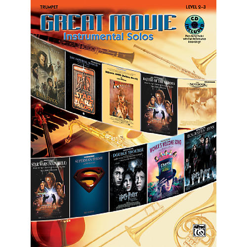 Alfred Great Movie Instrumental Solos Trumpet Book & CD-thumbnail