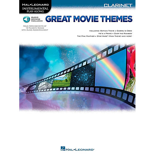 Hal Leonard Great Movie Themes For Clarinet - Instrumental Play-Along (Book/Online Audio)-thumbnail