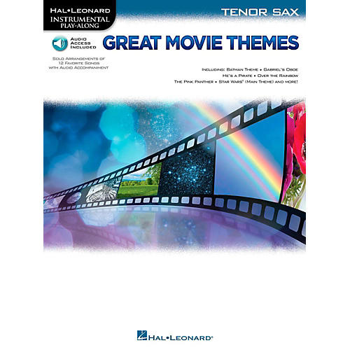 Hal Leonard Great Movie Themes For Tenor Sax - Instrumental Play-Along (Book/Online Audio)-thumbnail