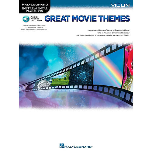 Hal Leonard Great Movie Themes For Violin - Instrumental Play-Along (Book/Online Audio)