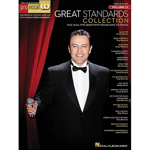 Hal Leonard Great Standards Collection - Pro Vocal Songbook & 2 CD's for Male Singers Volume 52