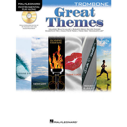 Hal Leonard Great Themes - Instrumental Play-Along Book/CD Trombone