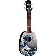 Luna Guitars Great Wave Soprano Ukulele Level 1 Mahogany with Satin Finish