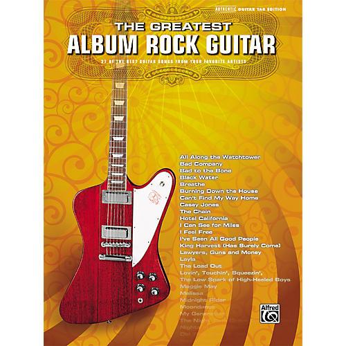 Alfred Greatest Album Rock Guitar Tab Book