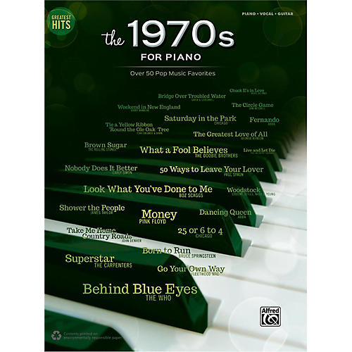 Alfred Greatest Hits: The 1970s for Piano Piano/Vocal/Guitar Songbook-thumbnail