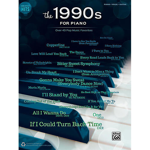 Alfred Greatest Hits: The 1990s for Piano - Piano/Vocal/Guitar Songbook-thumbnail