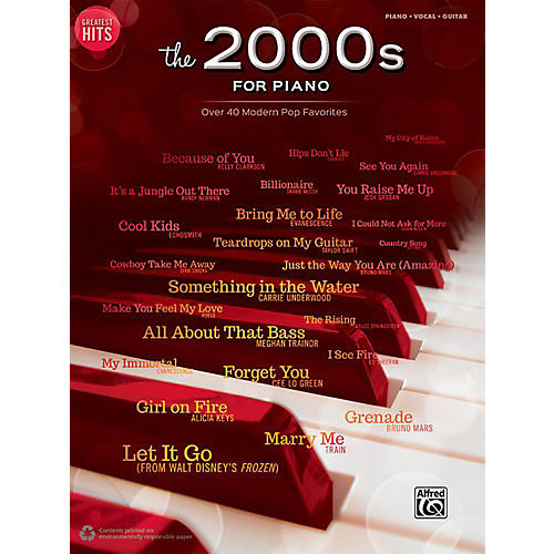 Alfred Greatest Hits: The 2000s for Piano - Piano/Vocal/Guitar Songbook-thumbnail