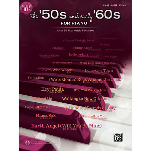 Alfred Greatest Hits: The '50s and Early '60s for Piano Piano/Vocal/Guitar Songbook-thumbnail