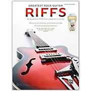 Alfred Greatest Rock Guitar Riffs Guitar TAB Book & DVD-ROM