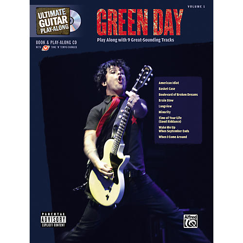 Alfred Green Day Ultimate Play-Along Guitar Tab Songbook with CD