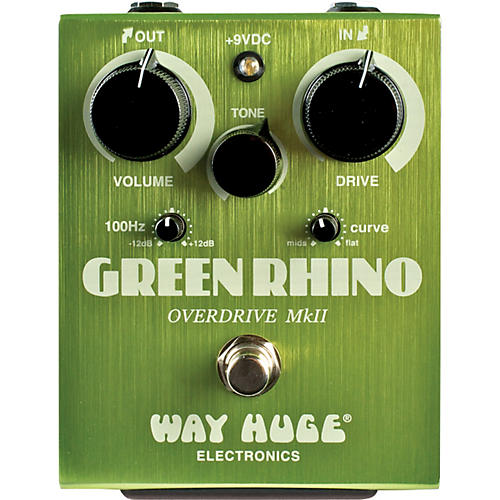 Way Huge Electronics Green Rhino MkII Overdrive Guitar Effects Pedal-thumbnail