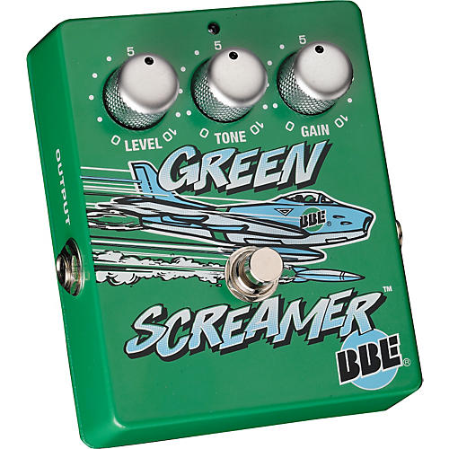 BBE Green Screamer Vintage Overdrive Guitar Effects Pedal-thumbnail