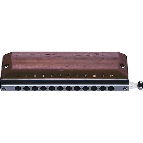 Suzuki Gregoire Maret Signature Chromatic Harmonica - Rosewood Covers-thumbnail