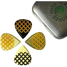 Timber Tones Grip Tones Mixed Tin of 4 Guitar Picks