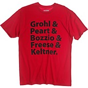 DW Grohl & Peart Artists T-Shirt Red