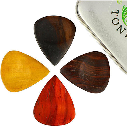 Timber Tones Groovy Tones Mixed Tin of 4 Guitar Picks-thumbnail