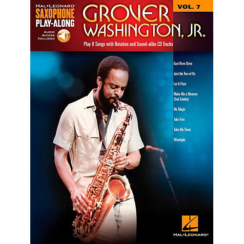 Hal Leonard Grover Washington Jr. - Saxophone Play-Along Vol. 7 (Book/Audio Online)-thumbnail