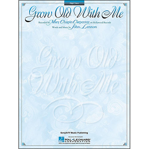 Hal Leonard Grow Old With Me - High Voice Songbook-thumbnail