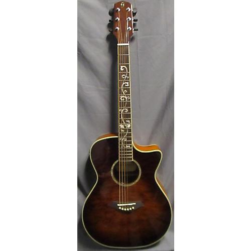 Giannini Gs-10qm-ceqvs Acoustic Electric Guitar