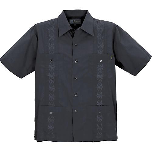 Dragonfly Clothing Company Guayabera Men's Shirt - Black