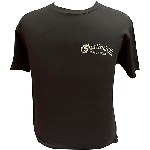 Martin Guitar Body On Back T-Shirt-thumbnail