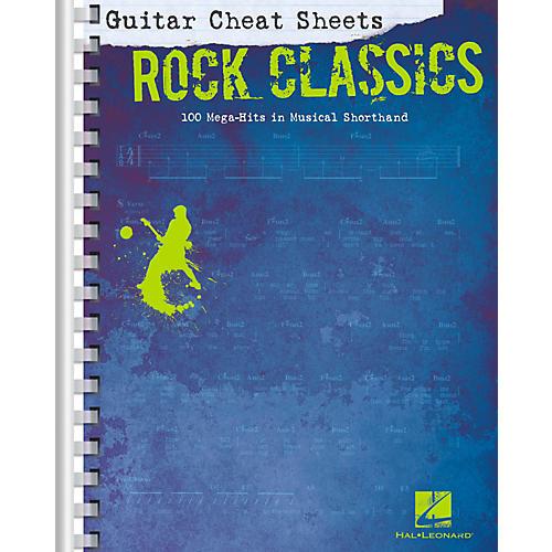 Hal Leonard Guitar Cheat Sheets - Rock Classics-thumbnail