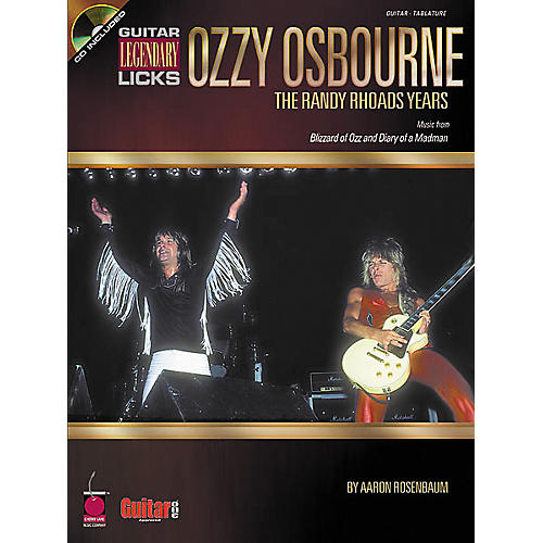 Cherry Lane Guitar Legendary Licks Ozzy Osbourne The Randy Rhoads Years Book with CD-thumbnail