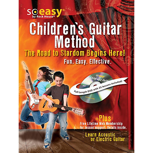 Hal Leonard Guitar Method for Kids, The Road to Stardom Starts Here! Learn Electric or Acoustic Guitar Book/DVD-thumbnail