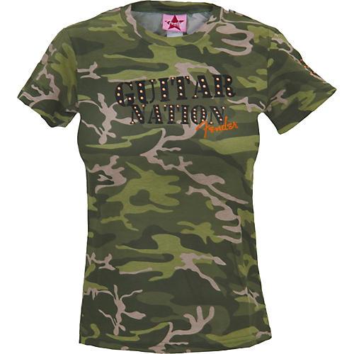 Fender Guitar Nation Camo Studded Women's T-Shirt