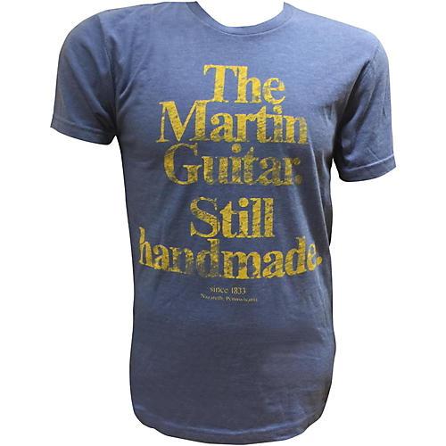 Martin Guitar Still Handmade - Royal T-Shirt with Gold Logo