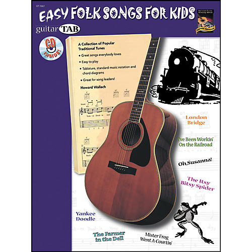 Alfred Guitar Tab: Easy Folk for Kids Book/CD-thumbnail