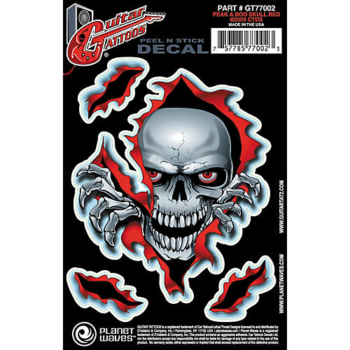 D'Addario Planet Waves Guitar Tattoo Decal