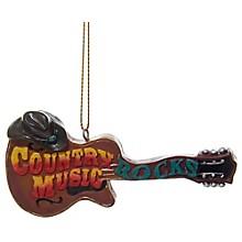 Kurt S. Adler Guitar With Cowboy Hat Ornament