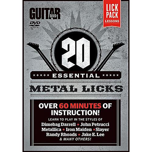 Alfred Guitar World 20 Essential Metal Licks DVD-thumbnail