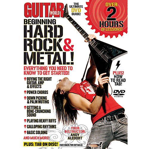 Alfred Guitar World Beginning Hard Rock & Metal Guitar (DVD)