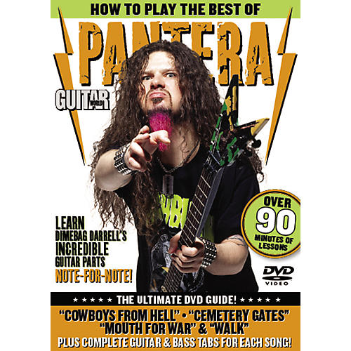 Alfred Guitar World: How To Play the Best of Pantera (DVD)