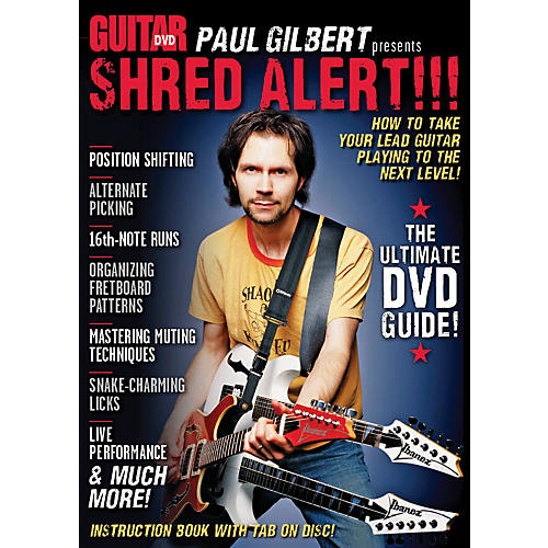 Alfred Guitar World Paul Gilbert presents Shred Alert! DVD