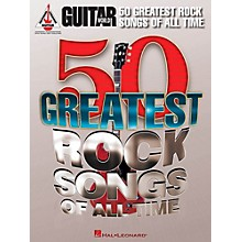 Hal Leonard Guitar World's 50 Greatest Rock Songs Of All Time Guitar Tab Songbook