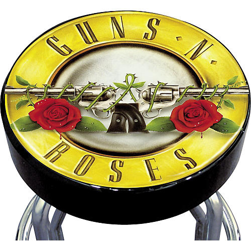 Silver Buffalo Guns N' Roses Bar Stool