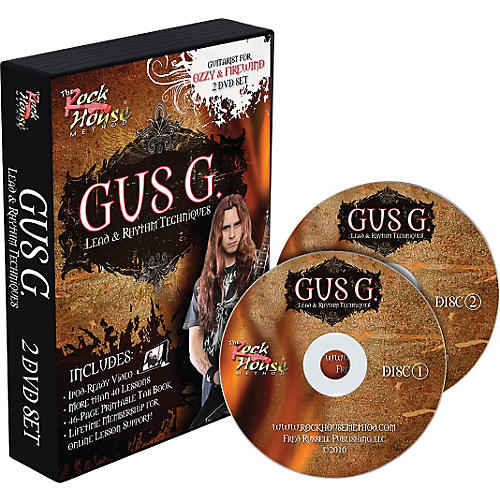 Hal Leonard Gus G. Lead & Rhythm Techniques 2 DVD Set